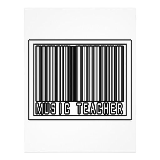 Barcode Music Teacher Custom Flyer