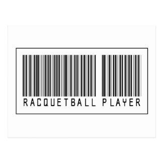 Barcode Racquetball Player Postcard