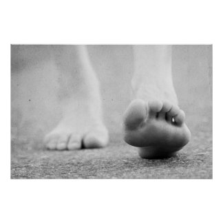 barefoot step poster
