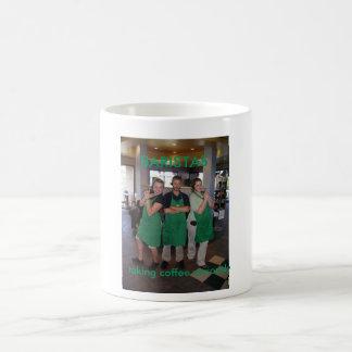 BARISTAS: taking coffee seriously Classic White Coffee Mug