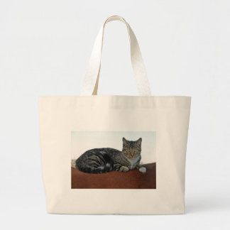 Barn Cat on Dunnit Large Tote Bag