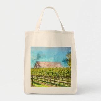 Barn in a Vineyard in Napa Valley California Tote Bag