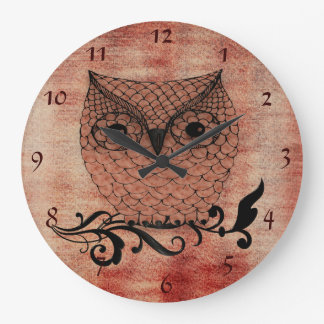 Barn Owl Whimsical Country Wall Clock