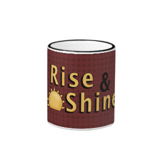 Barn Red Rise & Shine Rooster/Hen Coffee Cup Coffee Mugs