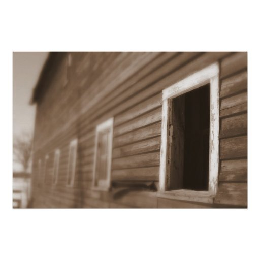 Barn Sepia tone photograph Imaginative Imagery Posters