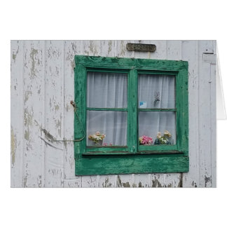 Barn Window,  envelope included Greeting Card
