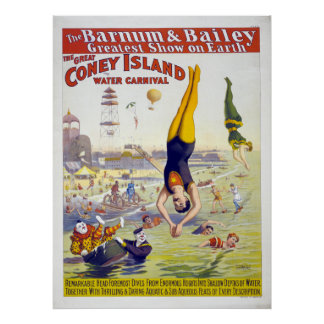 Barnum & Bailey Coney Island Circus Advertisement Poster