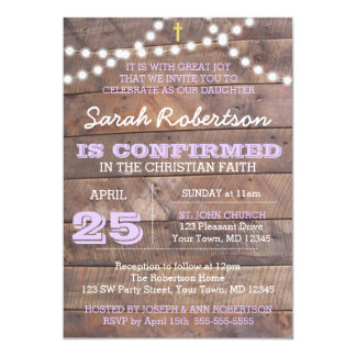 Barnwood Lights Lilac Confirmation/Baptism Card