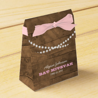 BarnwoodLights Pink Bat Mitzvah Favour Box