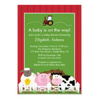 Barnyard Animals Baby Shower Invitation
