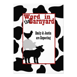 Barnyard Baby Shower Custom Announcements