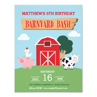 Barnyard Bash Invitation