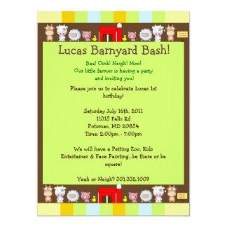Barnyard Bash Invites