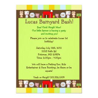 Barnyard Bash Personalized Invite