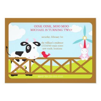 Barnyard Birthday Card