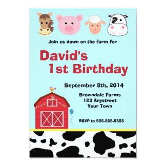 Barnyard Farm Invitation Custom Invite