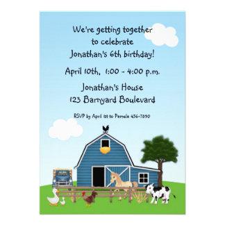 Barnyard Friends Birthday Invitation