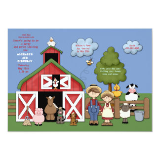 Barnyard Friends Invitation