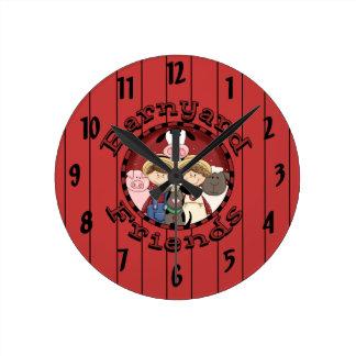 Barnyard Friends Kids Wall Clock