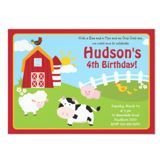 Barnyard Invitation / Farm Animal Invitation