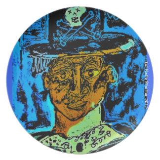 Baron Samedi Voodoo Plate by Katie Pfeiffer