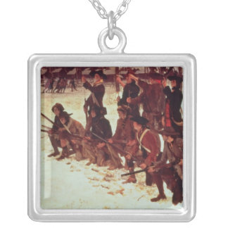 Baron von Steuben drilling American recruits Silver Plated Necklace