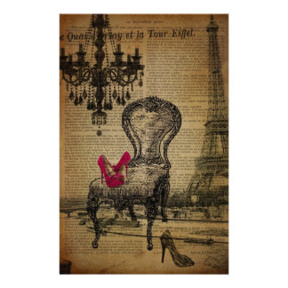 baroque chandelier rococo paris eiffel tower stationery