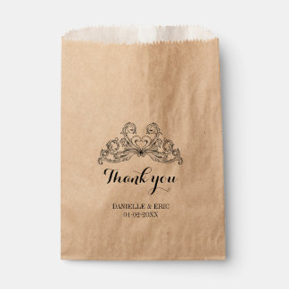 Baroque Chic Wedding Thank You Favour Bags