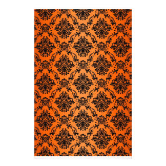 Baroque Orange Gothic Victorian Scapebook Sheet Stationery Design