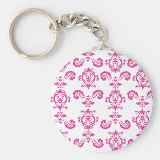 Baroque Pink Keychain