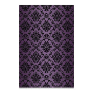 Baroque Plum Victorian Scrapbook Paper Stationery