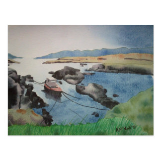 Barra Boat postcard