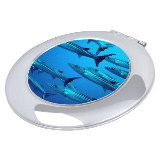 Barracuda Fish Dive Deep Ocean Water Swim Beach Mirrors For Makeup