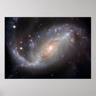 Barred Spiral Galaxy NGC 1672 [Print] Poster