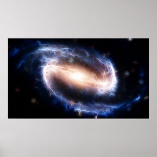 Barred Spiral Galaxy Poster