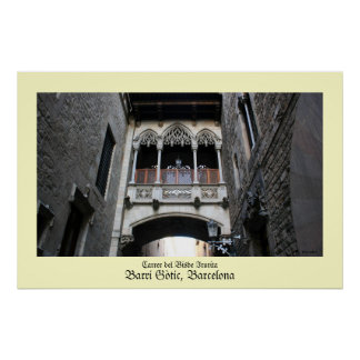 Barri Gotic Barcelona Poster