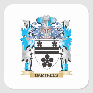 Barthels Coat of Arms Square Stickers