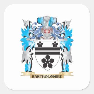 Bartholomieu Coat of Arms Square Sticker