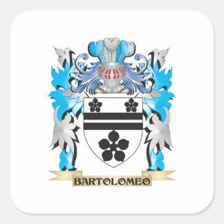 Bartolomeo Coat of Arms Square Stickers