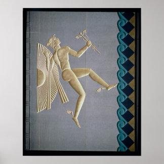Bas-relief depicting Mercury Poster