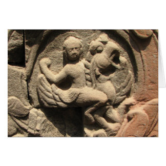 Bas-relief from Ta Prohm Card