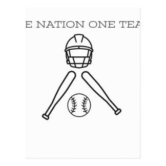 Base BAll..One Nation one Team . Postcard