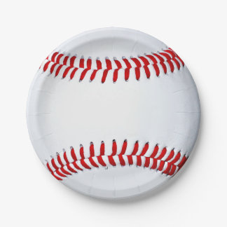 Baseball 7 Inch Paper Plate
