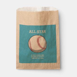 Baseball Bachelor Party Favor Bags Favour Bags