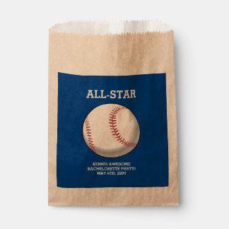 Baseball Bachelorette Party Favor Bags Favour Bags
