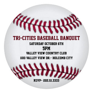 Baseball Banquet Invitation