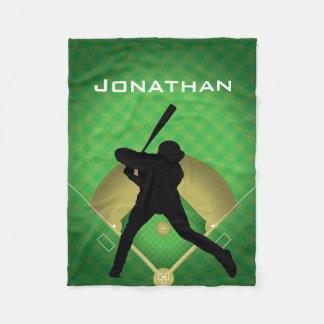 Baseball Batter Design Fleece Blanket
