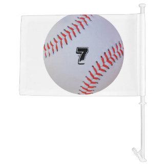 Baseball car flag. car flag