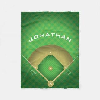 Baseball Diamond Design Fleece Blanket