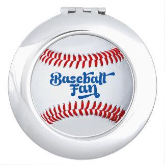 Baseball Fan Female Gift Idea Photo Compact Mirror